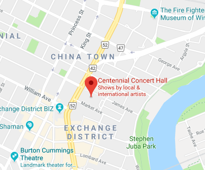 Centennial Concert Hall Google Map